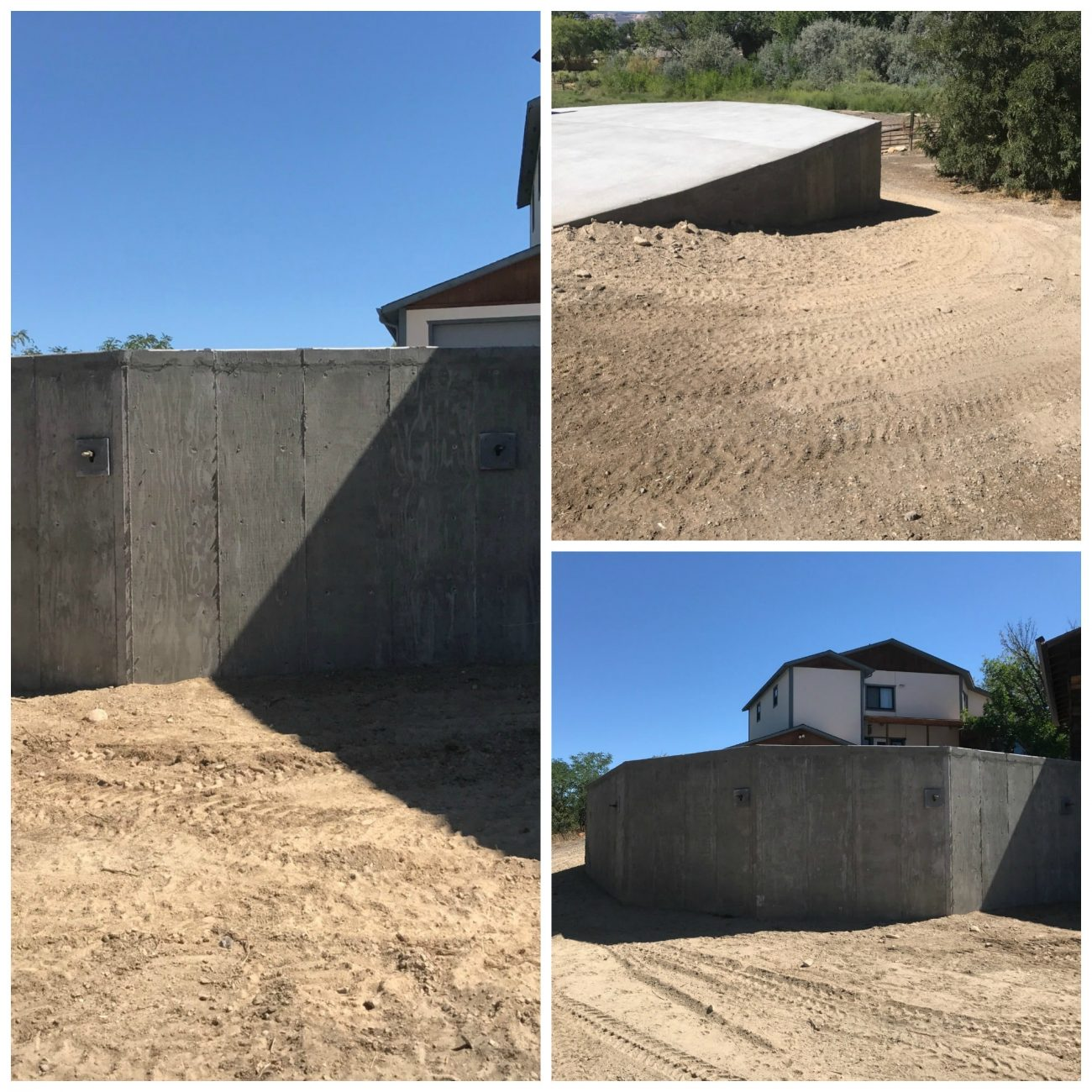 Construction of Concrete Residential Retaining Wall