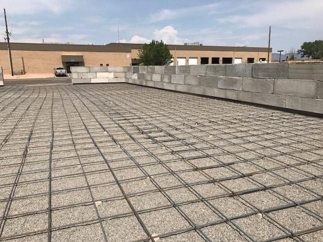 Commercial construction concrete work