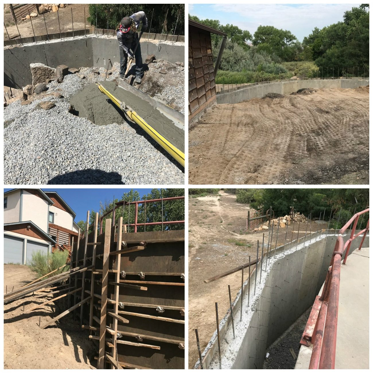Concrete Retaining Wall Construction