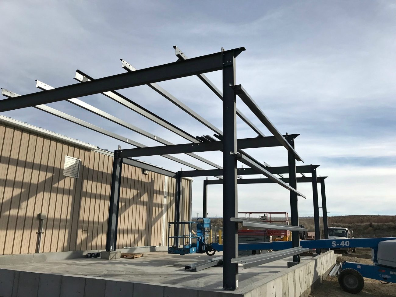 Steel beams for commercial metal building