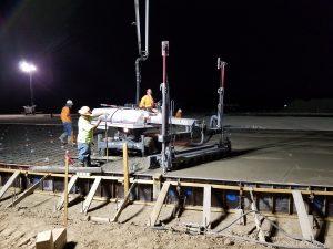 Finishing concrete foundation construction